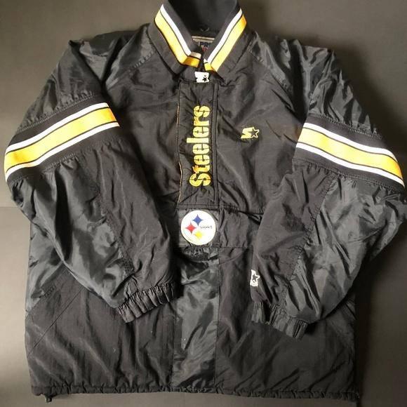 quality design 862af b86df 90s Steelers Starter ProLine Coat Halfzip Pullover